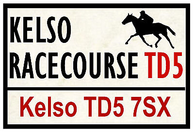 Horse Racing Road Signs (Kelso) - Fun Souvenir Novelty Fridge Magnet - Gifts