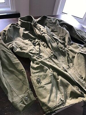 Canadian Army Parka Military Peacoat Cotton Blend  L