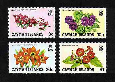 Cayman Islands 1981 Flowers complete set of 4 values (SG 541-544) MNH