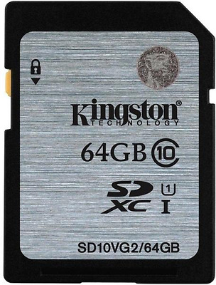 Memory Card SD Secure Digital SD 64GB Classe 10 V G2 45MB/s R Kingston