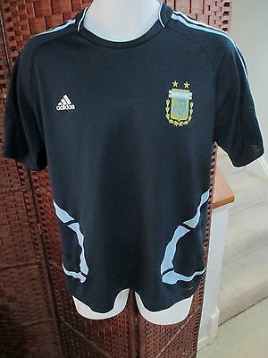 Adidas Argentina Soccer jersey mens Large World Cup Football