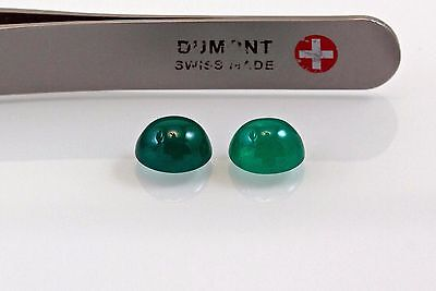 3.94 TCW Cabochon Pair Natural Colombian Emeralds Loose Gemstones