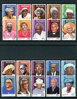 Barbados 2016 MNH Centenarians of Barbados 20v Set People on Stamps