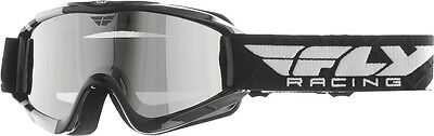 FLY RACING Snow Snowmobile - Focus Goggles (Black w/Chrome Smoke Dual Lens)