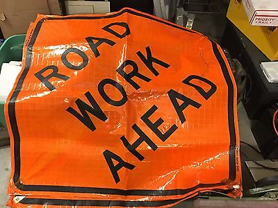 CONSTRUCTION SAFETY  SIGNS,  ROAD WORK AHEAD 64in. x 64in.( 3 signs )