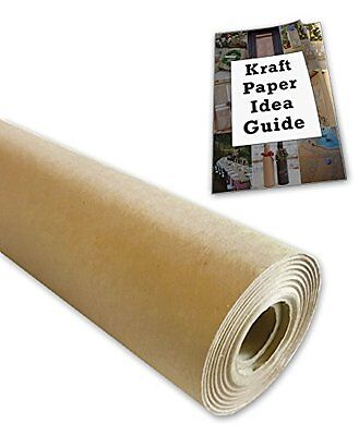 "Kraft Paper Jumbo Roll Packing Wrap Craft Butcher Mail Brown 30""x1200"" 100ft"