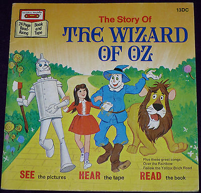 The Wizard of OZ - Disney Cassette & Book - w/o Cassette - See Hear And Read!!!