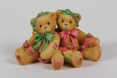 """REDUCED! Cherished Teddies - Bonnie & Harold 466301 """"Ring in the holidays..."""""""