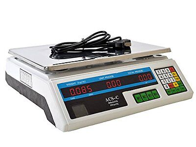 Scale 60-Pound 30Kg Digital Price Food Meat Cafeteria Candy Restaurant Market