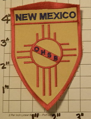 NEW MEXICO Occupational Health & Safety Bureau (OHSB) Patch         ***NEW***