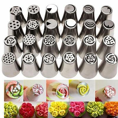 New 13 Pcs Russian Tulip Icing Piping Nozzles Stainles Tips Cake Decorating Tool