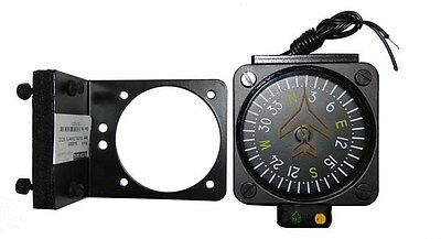 "2 1/4"" Vertical Card Compass Southern Hemisphere with Mounting Bracket"