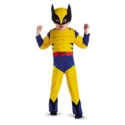 X-Men Wolverine Muscle Toddler Costume (Toddler, Yellow)