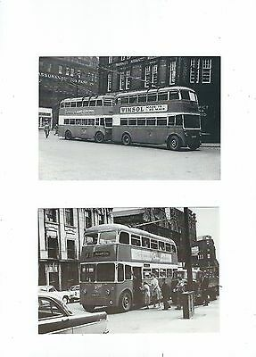 Double Deck Trolley Buses  3 Postcards
