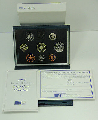 1994 Royal Mint United Kingdom Proof Coin Collection With Box & Certificate