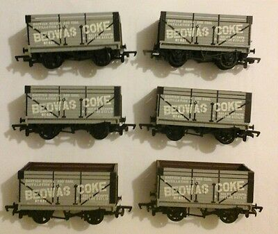 """Mainline OO Private Owner 12ton Coke Wagons Rake of 6 """"Bedwas"""" Boxed  37-164"""