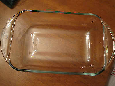 "Glass 6""x 9"" meatloaf glass dish"