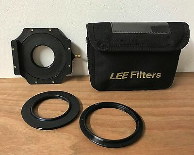 Lee Filter Holder, w/49mm + 67mm + 86mm rings and various plastic filters