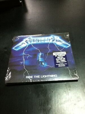 metallica ride the lightning cd digipack remastered factory sealed thrash metal