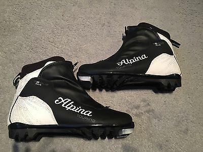 Alpina touring T5 eve plus cross country XC ski boots, size 7 black and white