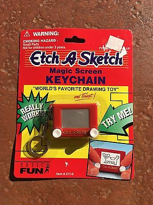 Etch-A-Sketch-World's Favorite Drawing Toy - Mini Keychain -1997 New Sealed