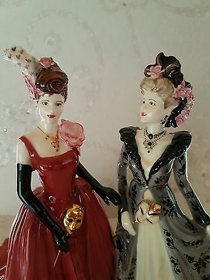 Extremely Rare Stunning Coalport Figurine ( Venetian Masked Ball ) First Quality