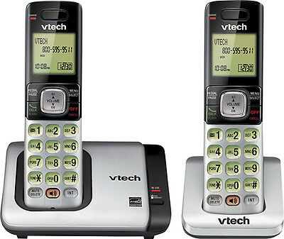 2 Cordless Handset VTech DECT 6.0 Home Phone Call Waiting Caller ID Speakerphone