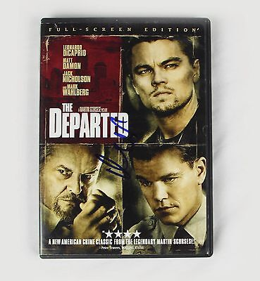 Matt Damon The Departed Signed Authentic Autographed DVD Cover COA