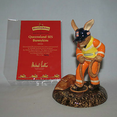 Royal Doulton Ltd Ed Bunnykins Queensland SES State Emergency Service DB504 Box