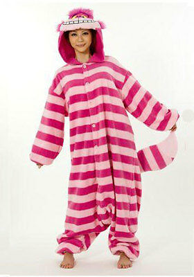 Cheshire Cat Kigurumi Onesie Pajama Costume One Size Fits Most Adults NEW