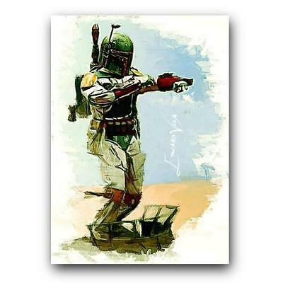 ACEO 2015 BOBA FETT # 6 Art Sketch Card Star Wars 14/25 Limited Edition Artist S