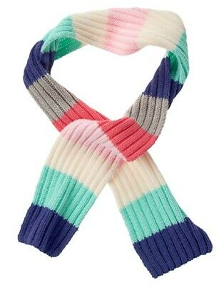 Gymboree Enchanted Winter Pink White & Teal Striped Sweater Scarf 1-Size Nwt