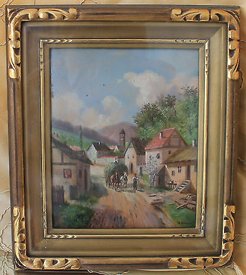 Antique Painting by LOTHAR BURGER (1866-1943)-Austrian Listed-Oil signed