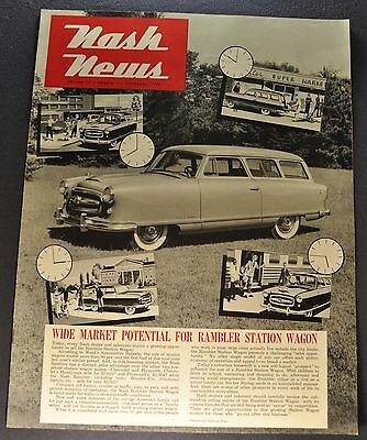 1953 Nash News Catalog Brochure Rambler Station Wagon Excellent Original 53