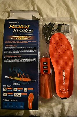 Thermacell THS01 Rechargeable Heated Insoles Size Medium