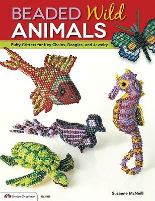 BEADED WILD ANIMALS-Beads/Beading Jewelry Making Craft Idea Book-Puffy Critters