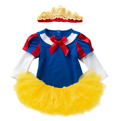 ***Baby Girl Snow White Fancy Dress with Headband Birthday School Play Party***