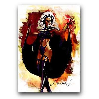 ACEO 2015 STORM # 6 X-MEN 22/25 Limited Hand Paint Art Sketch Card Artist Signed