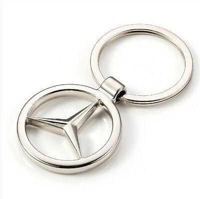 NEW hot Mercedes-Benz Car KeyRing STAINLESS CAR LOGO FOB  KEY RING KEY CHAIN