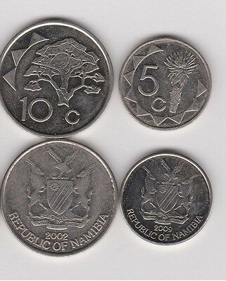 Namibia South Africa:  5 & 10 Cents Coin Collection - 2 Coins Mixed Dates