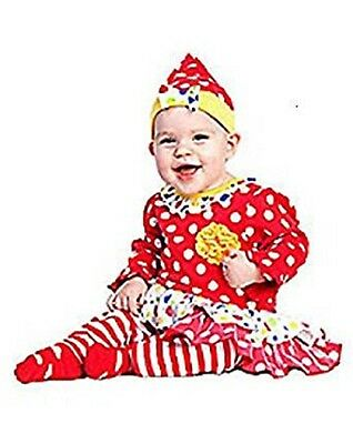 Infant Baby Girl Cutsie Clown Costume Outfit 6-12 Months New