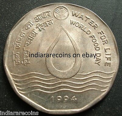 India Inde Indien 1994 World Food Day Water For Life UNC New 2 Rs