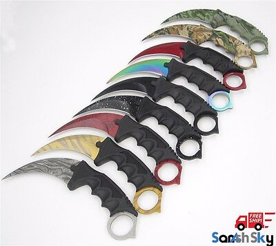 CS GO Counter Strike Hawkbill Tactical Claw Karambit Neck Knife Free Shipping