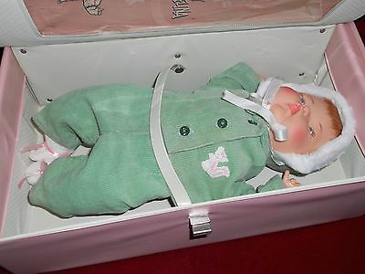 "Tiny Thumbelina 14"" Doll Ideal All Original in Wardrobe Case Works"