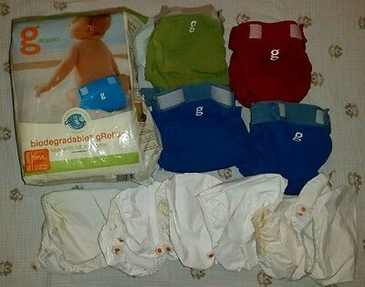 * Baby cloth diapers lot * gDiapers * covers * liners * inserts * size medium *