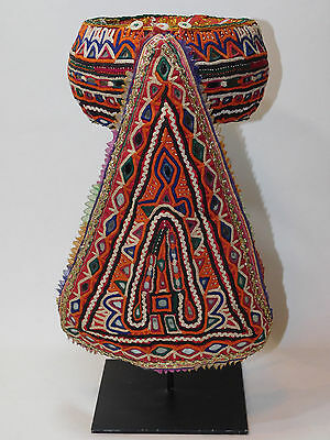 Vintage kutch Jar carrying Head Ring with custon iron stand, INDIA