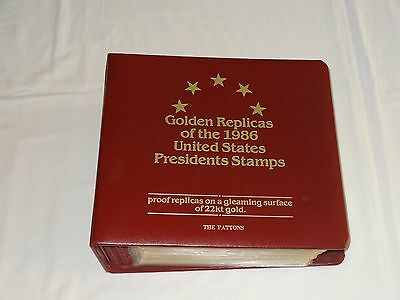 Golden Replicas of the 1986 United States Presidents Stamps 22kt gold 30 Stamps