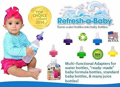 New Refresh A Baby Adapter Instantly Converts Water Bottles & Hydrates On The Go