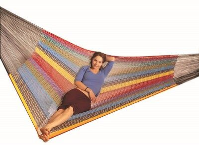 OZTRAIL MEXICAN QUEEN SIZE HAMMOCK 2 PERSON 200x160cm 200kg WEIGHT RATING