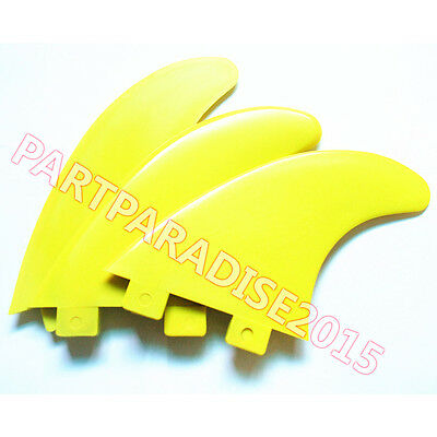 3pcs/Set Outdoor Surfboard Fins For FCS Compatible G5 Template Surf Fin Yellow